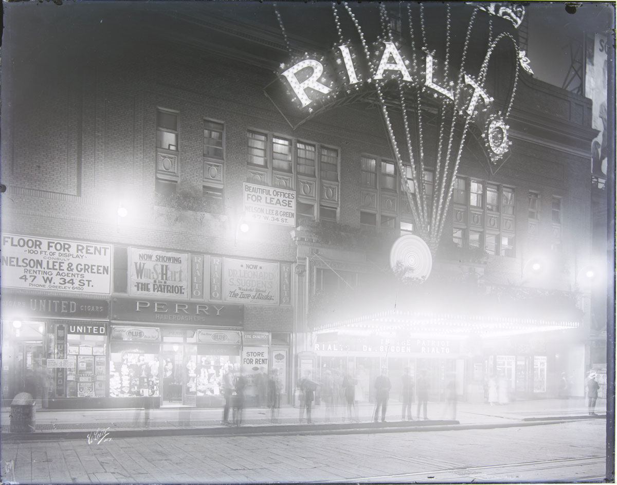 Photograph of the Rialto Theatre in New York City, taken around 1920 by White Studio.