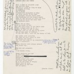 "A draft of Miller Williams's poem ""In My 39th Year Looking Back and Forth"" corrected by both Williams and John Ciardi."