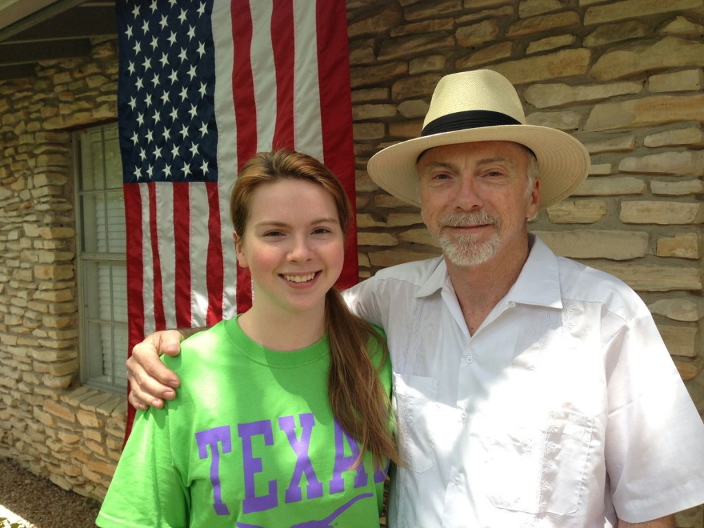 Peter Mears with his daughter, Lucy, on July 4th. Courtesy of Peter Mears.