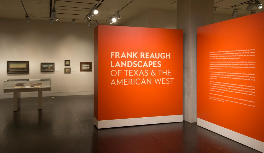 The exhibition Frank Reaugh: Landscapes of Texas and the American West. Photos by Pete Smith.