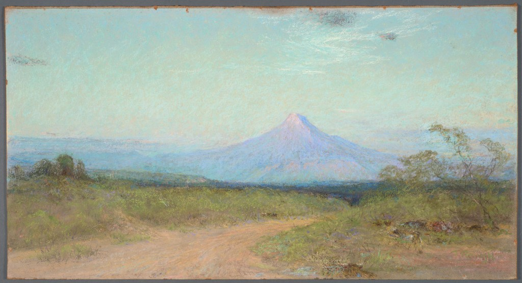 Frank Reaugh Margaret's Peak, circa 1933, pastel on Masonite, 16 1/8 x 29 15/16 inches.