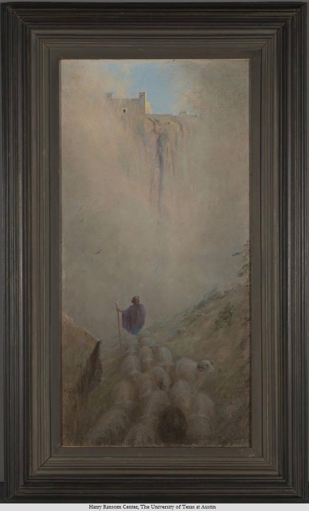 The Singing Shepherd of Acoma, Frank Reaugh (1860-1945). Undated. 101x50cm.
