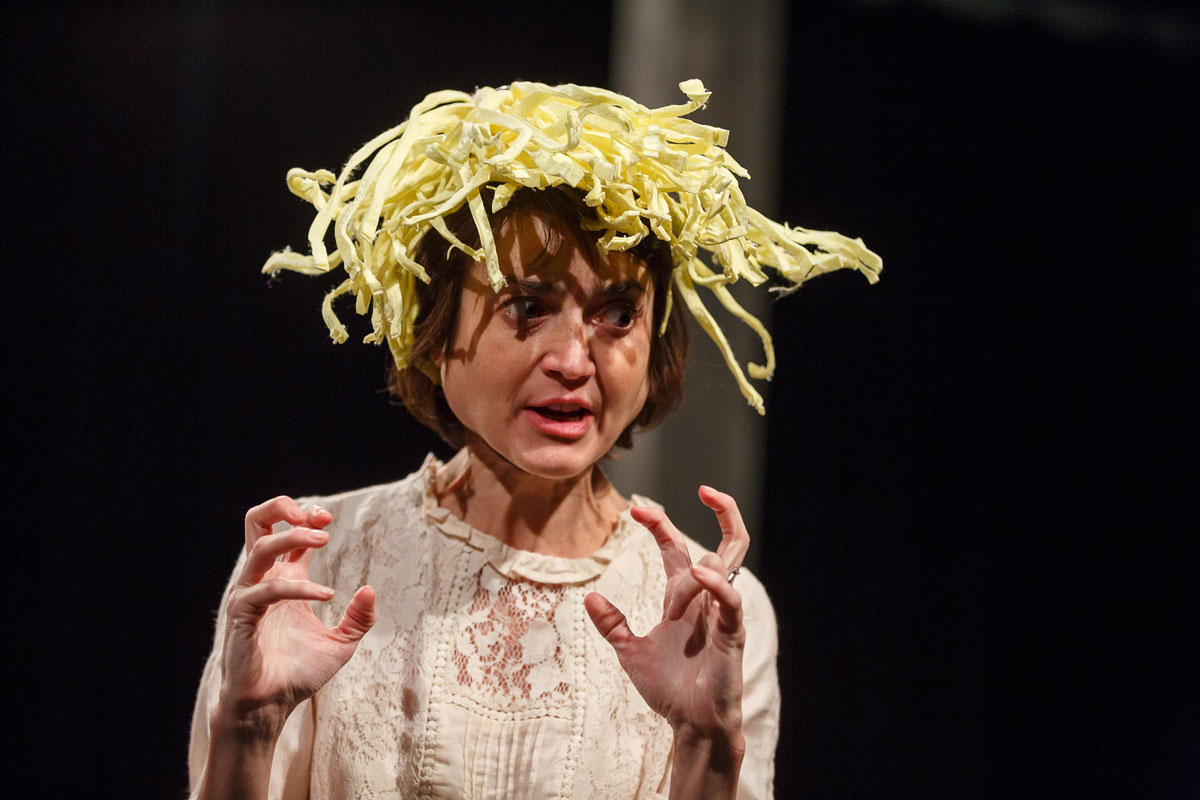 Claire Redcliffe as Lion in the Actors From The London Stage production of A Midsummer Night's Dream. Courtesy AFTLS,