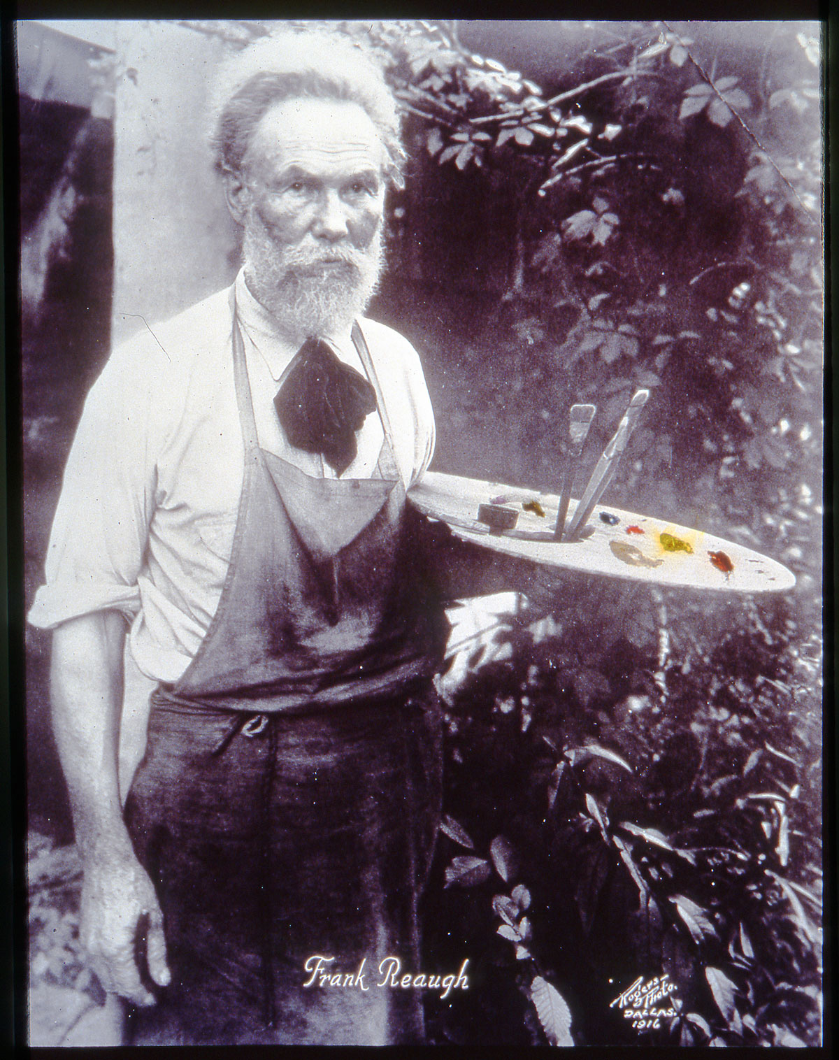 Undated portrait of Frank Reaugh with palette. Unknown photographer.