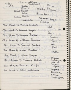 Penelope Lively's short story notebook.