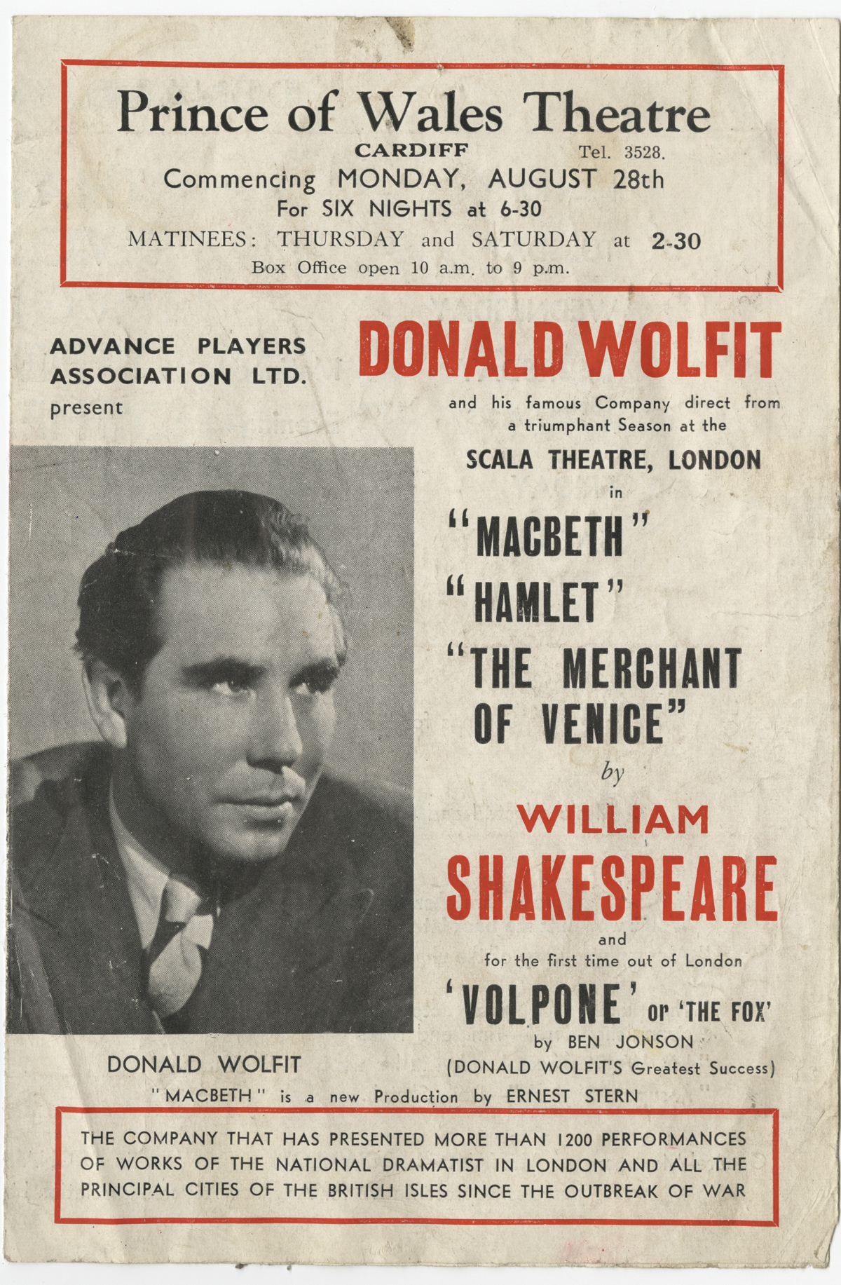 Fellow finds a kindred spirit in Shakespearean actor-manager Donald Wolfit