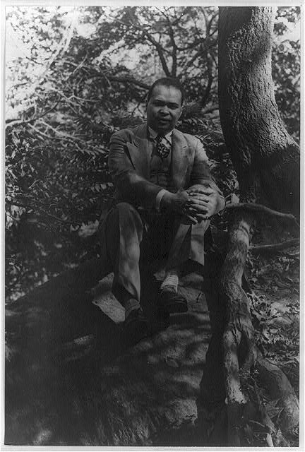 Carl Van Vechten (1880-1964) [Portrait of Countee Cullen, in Central Park], June 20, 1941.