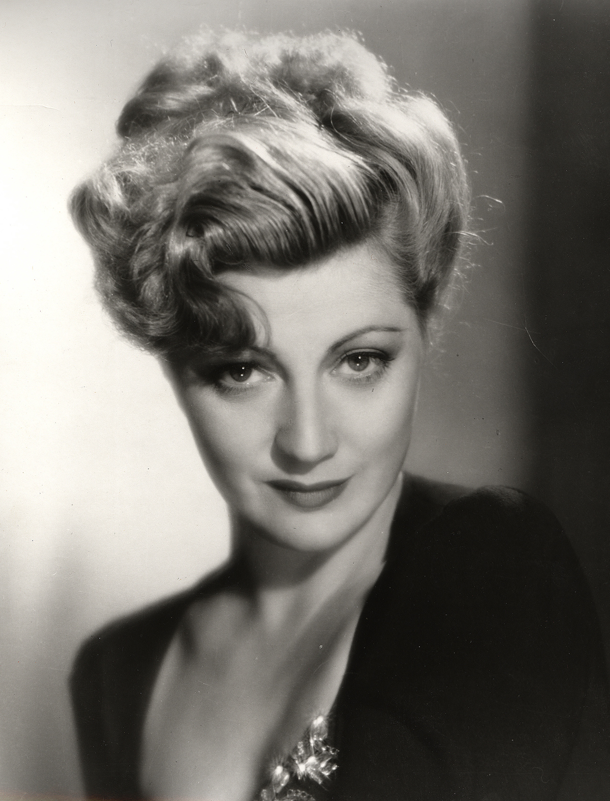 "Stella Adler. This publicity photograph was probably taken in 1937, the year Stella's first film ""Love On Toast"" was released."