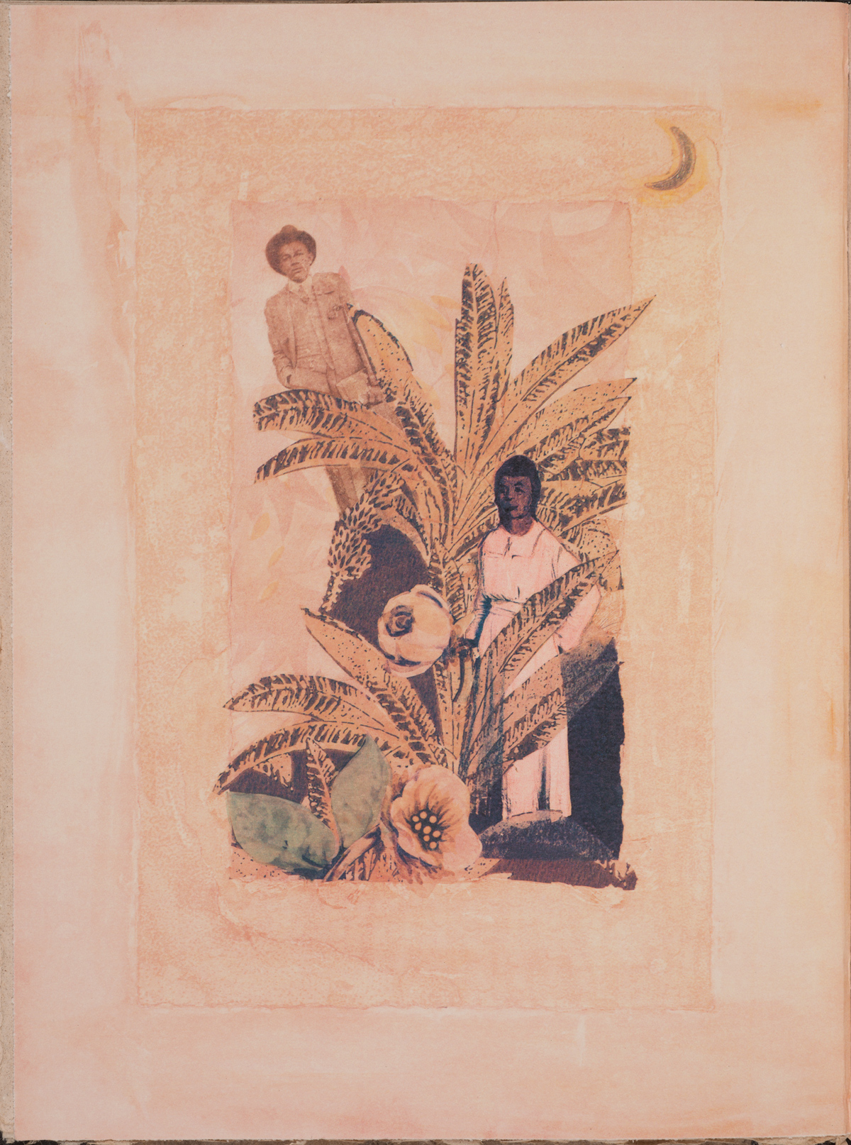 Betye Saar (b. 1926). Illustration for Zora Neale Hurston's Bookmarks in the Pages of Life (2000). Copyright Betye Saar.