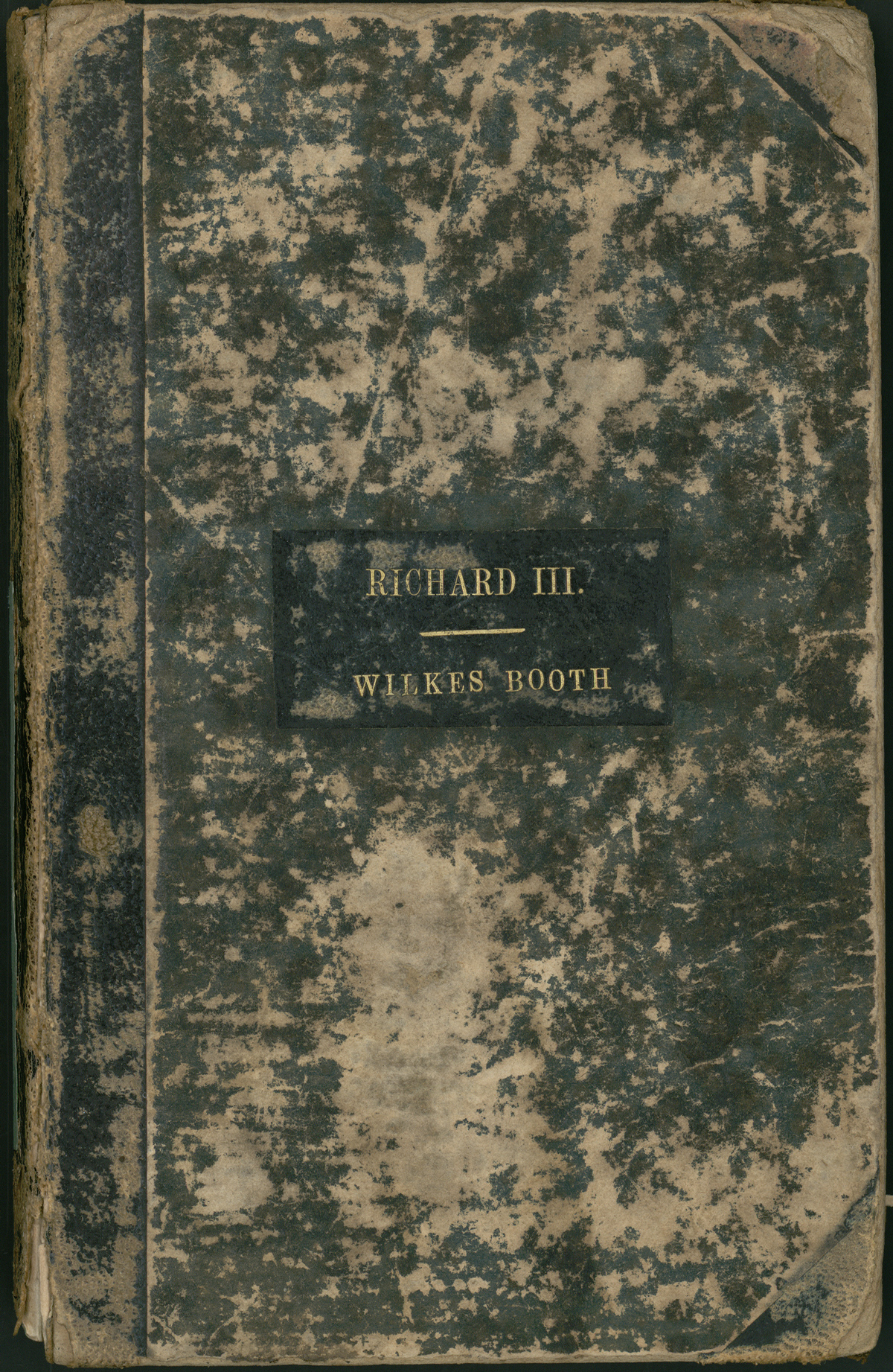 John Wilkes Booth's promptbook for Richard III.