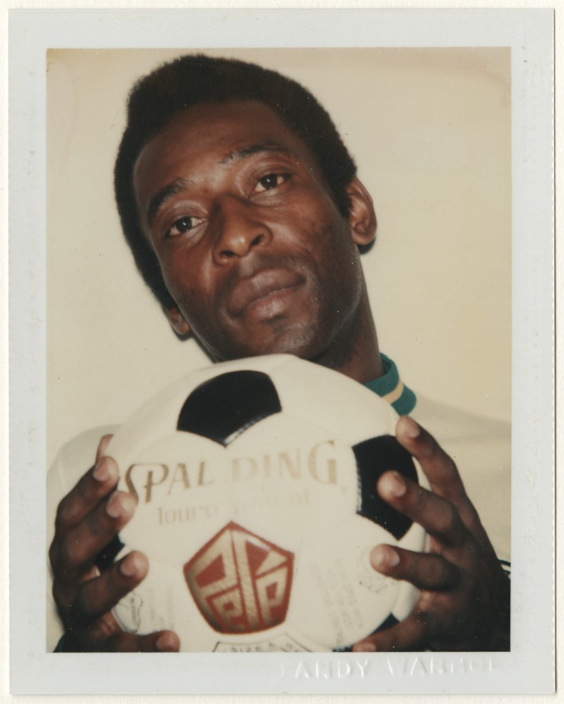 Andy Warhol (American, 1928–1987). Pelé, 1977. Dye diffusion print, 10.8 x 8.5 cm. Harry Ransom Center, gift of the Andy Warhol Foundation © 2016 The Andy Warhol Foundation for the Visual Arts, Inc. / Artists Rights Society (ARS), New York