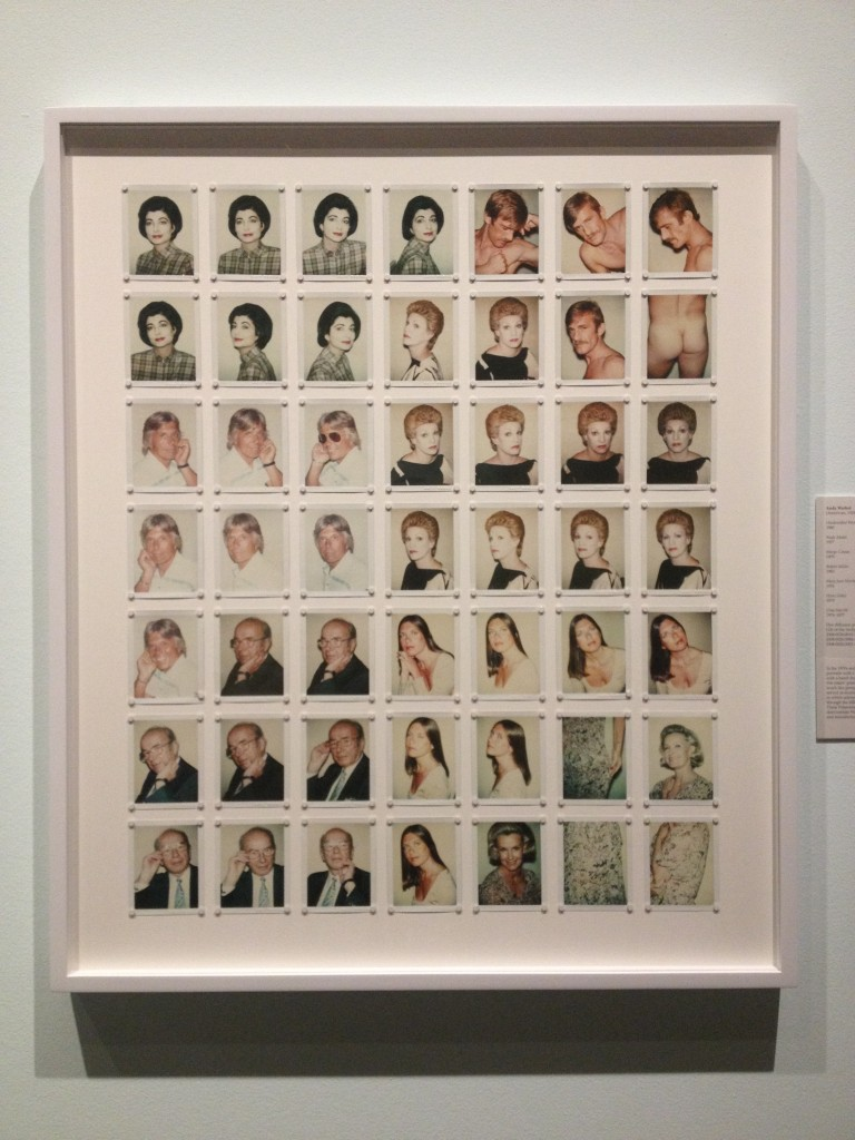 The Andy Warhol Polaroids in the galleries.