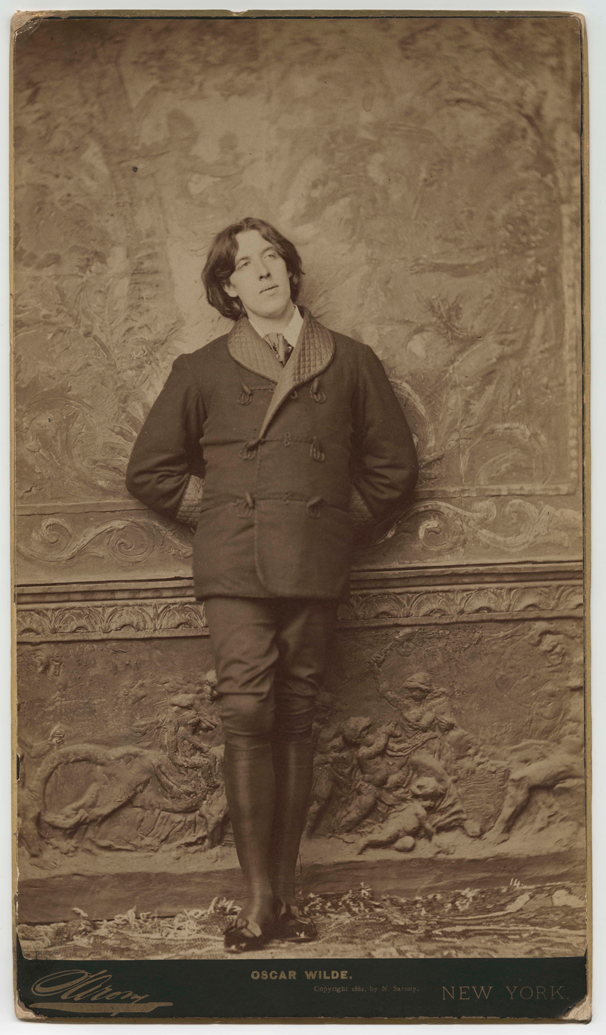 Oscar Wilde in New York, 1882, from the Oscar Wilde Literary File at the Harry Ransom Center.