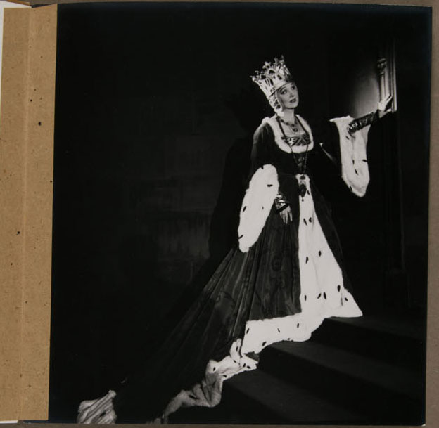 Photographs from the B. J. Simmons & Co. Production Portfolios by Cecile Beaton. Before treatment: Photographs adhered to the album with kraft-paper tape along the left edges.