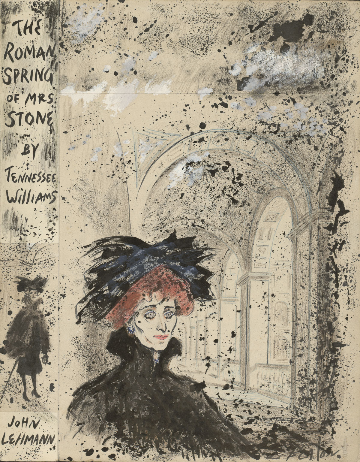 Sir Cecil Beaton (British, 1904-1980) The Roman Spring of Mrs. Stone, ca. 1950s Ink, crayon, and gouache on paper 14 1/4 x 11 1/8 inches. (c) National Portrait Gallery London