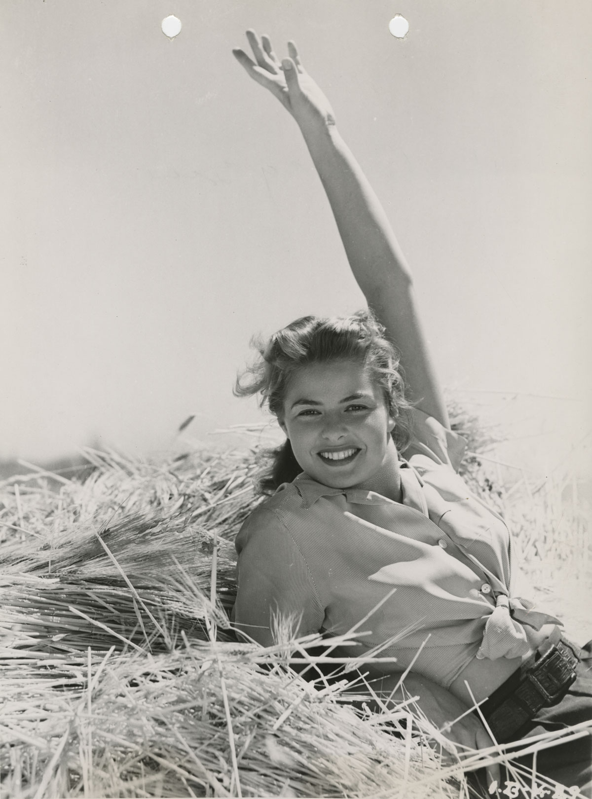 Ingrid Bergman in a publicity image for Intermezzo. From the David O. Selznick collection at the Harry Ransom Center.