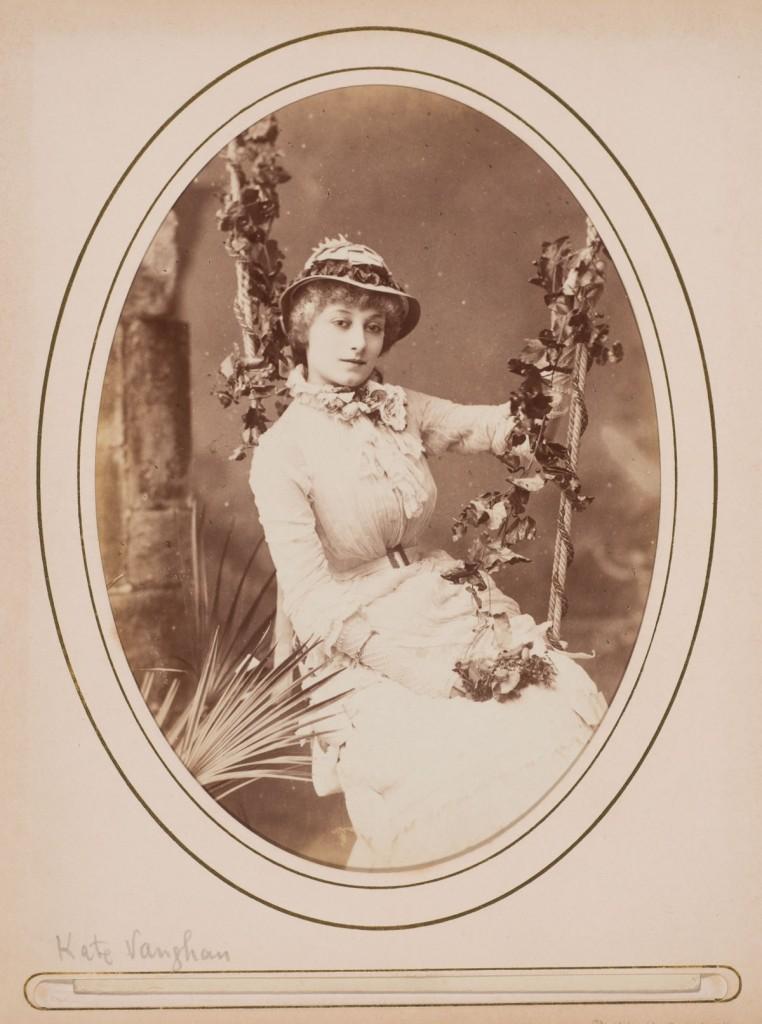 W. & D. Downey (British, active 1855–1940), [Kate Vaughan], ca. 1880. Albumen print (cabinet card), 6 ½ x 4 ¼  in. Gernsheim collection, 964:0488: 0004, f TR 655.11 C525 HRC-P