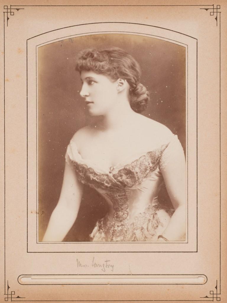 W. & D. Downey (British, active 1855–1940), [Lillie Langtry], ca. 1880. Albumen print (cabinet card), 6 ½ x 4 ¼  in. Gernsheim collection, 964:1020:0024, f TR 655.11 C526 HRC-P