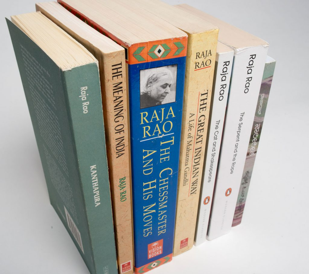 Books by Raja Rao. Photos by Pete Smith.