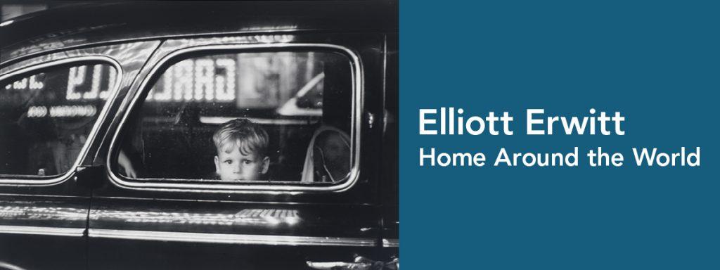 "Exhibition identity for ""Elliott Erwitt: Home Around the World"""