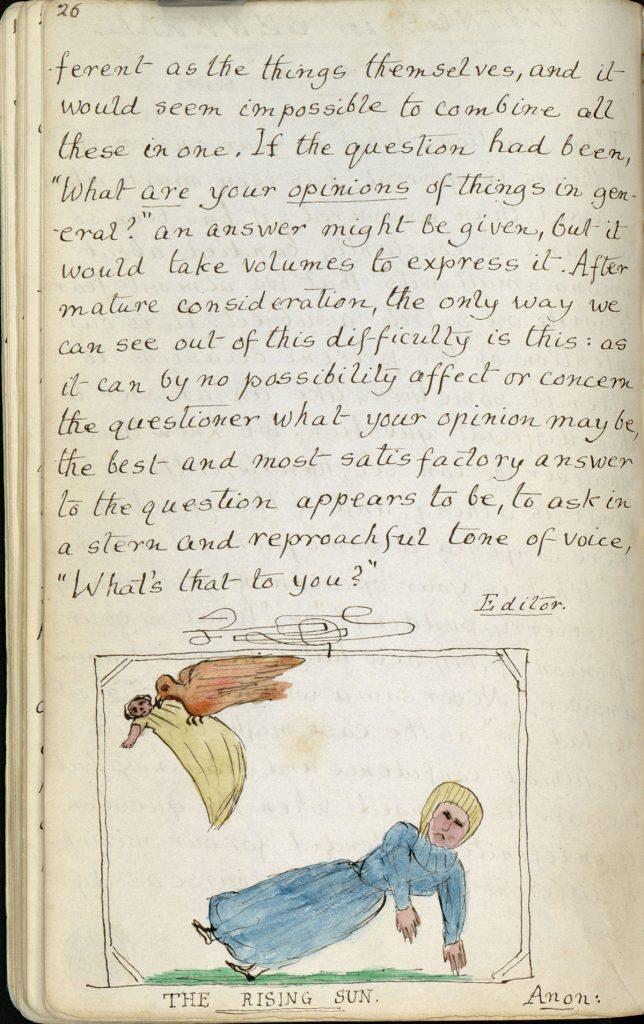 "Charles Lutwidge Dodgson, 1832-1898, ""The Rectory Magazine,"" 1850, manuscript. Charles Lutwidge Dodgson Collection, Harry Ransom Center."