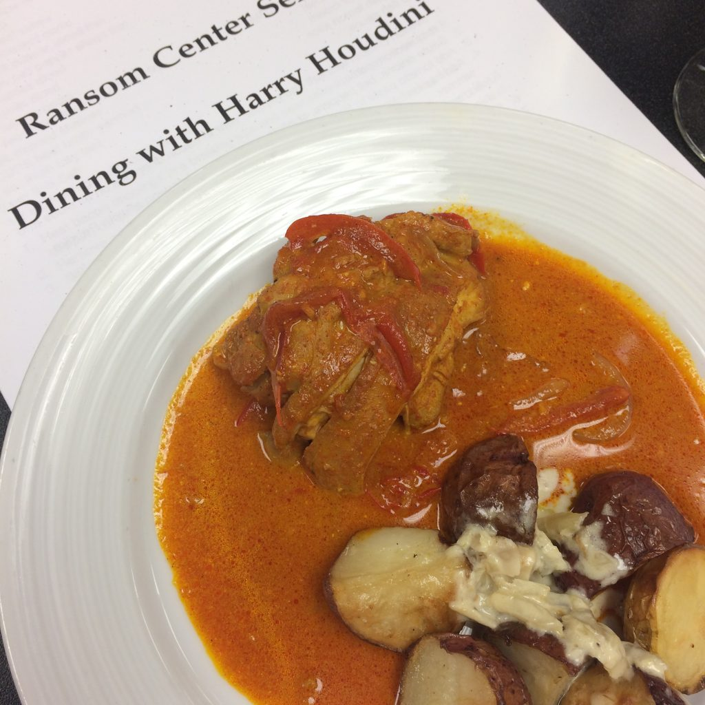 Chicken paprikash with fennel potatoes