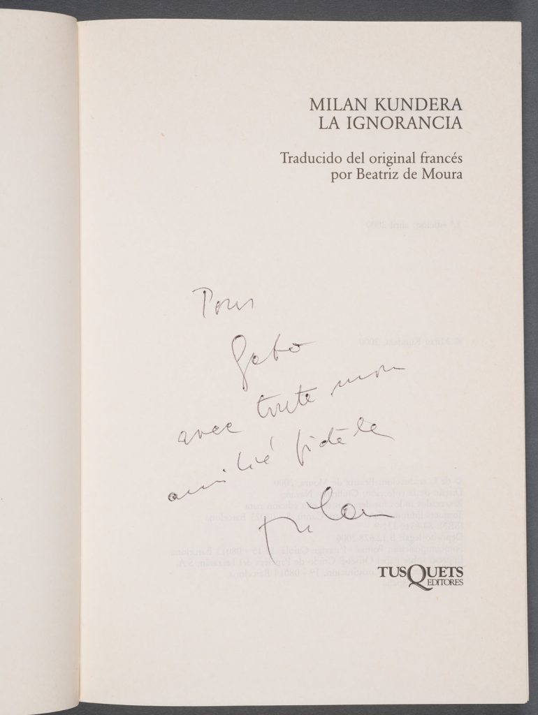 "Milan Kundera's ""La ignorancia"" (2000). Photos by Pete Smith."