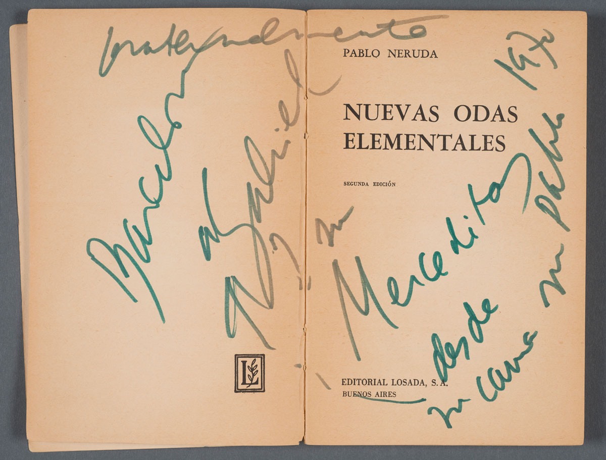 "Pablo Neruda's ""Nueva odas elementales"" (1963). Photos by Pete Smith."