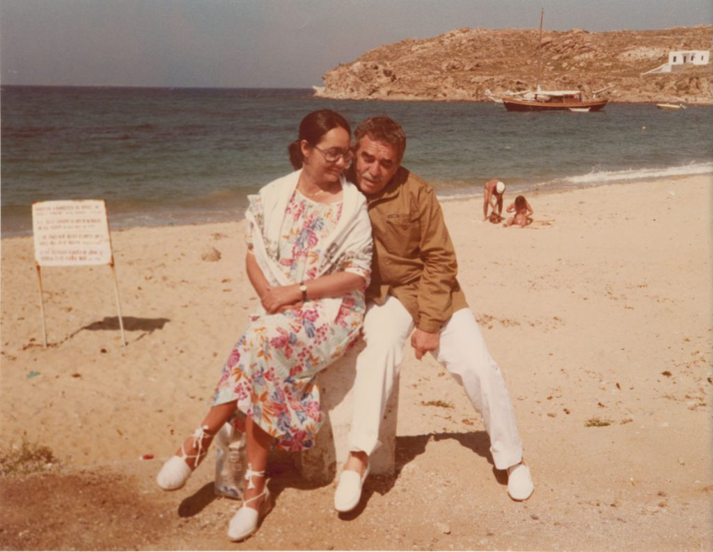 With Mercedes on the island of Crete; undated.