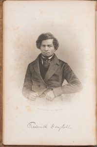 A portrait of Frederick Douglass from the frontispiece of My Bondage and My Freedom (New York: Miller, Orton & Mulligan, 1855).