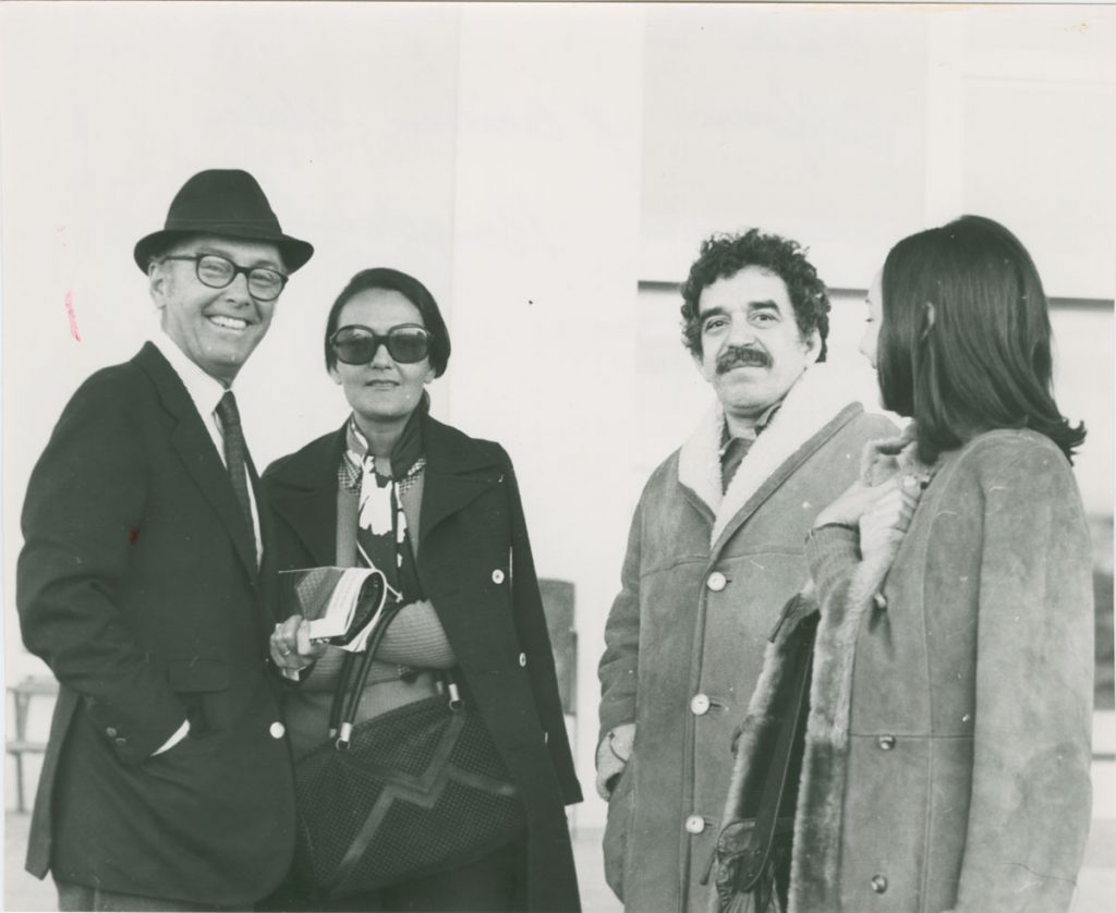 With wife Mercedes (right) and Spanish architect Alfons Milà and his wife Cecilia Santodomingo in Barcelona; photographer and date unknown.
