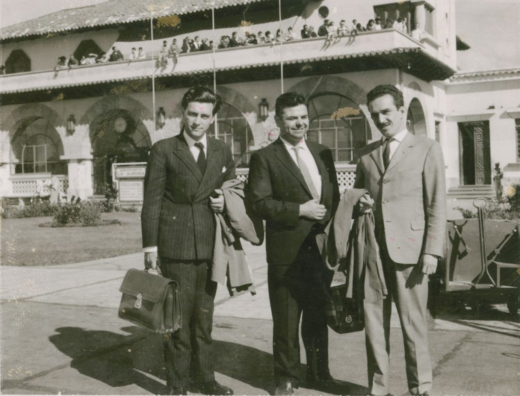 With Jorge Masetti (left), an Argentinian guerrilla and journalist, and founder and director of news agency Prensa Latina, of which García Márquez was a member; photographer and date unknown.