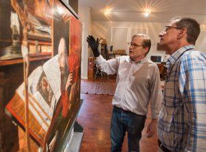 Mark van Gelder and the Ransom Center's Head of Paper Conservation Ken Grant discuss the treatment at van Gelder's studio.