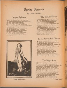 "Claude McKay's poem ""The White House"" as it first appeared in The Liberator (May 1922)"