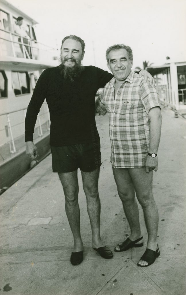 With Cuban leader Fidel Castro during a trip to Havana; photographer and date unknown.