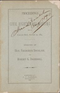 Proceedings of the Civil Rights Mass Meeting (Washington, DC: C.P. Farrell, 1883).