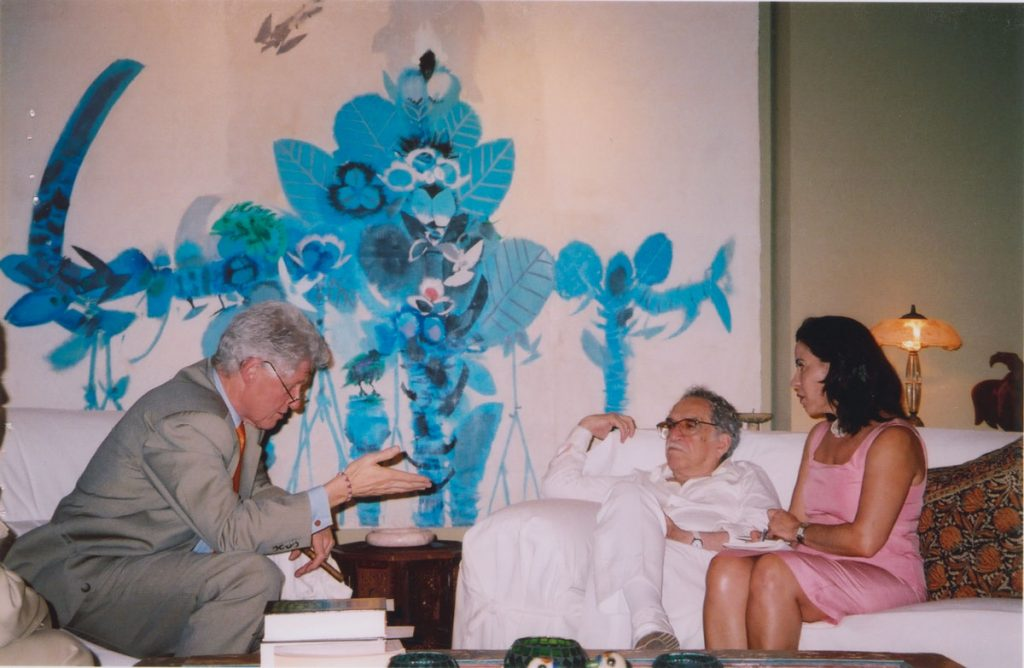 With Bill Clinton and Patricia Cepeda, friend and translator; photographer and date unknown.