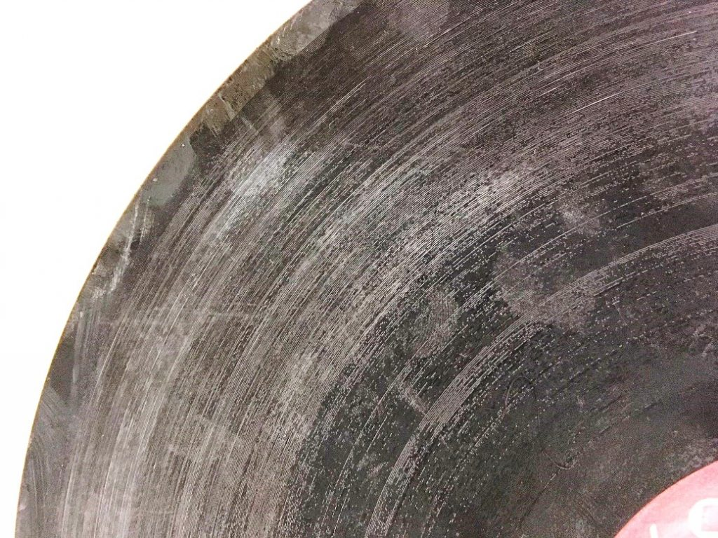 Detail of a lacquer disc.