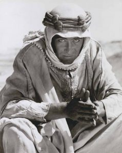 "Studio photo of Peter O'Toole in the 1962 film ""Lawrence of Arabia."""