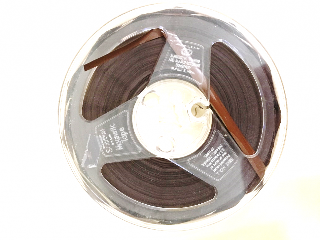 A reel-to-reel tape.
