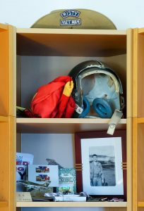 "Dean Echenberg's cabinet of ""Misty"" related items."