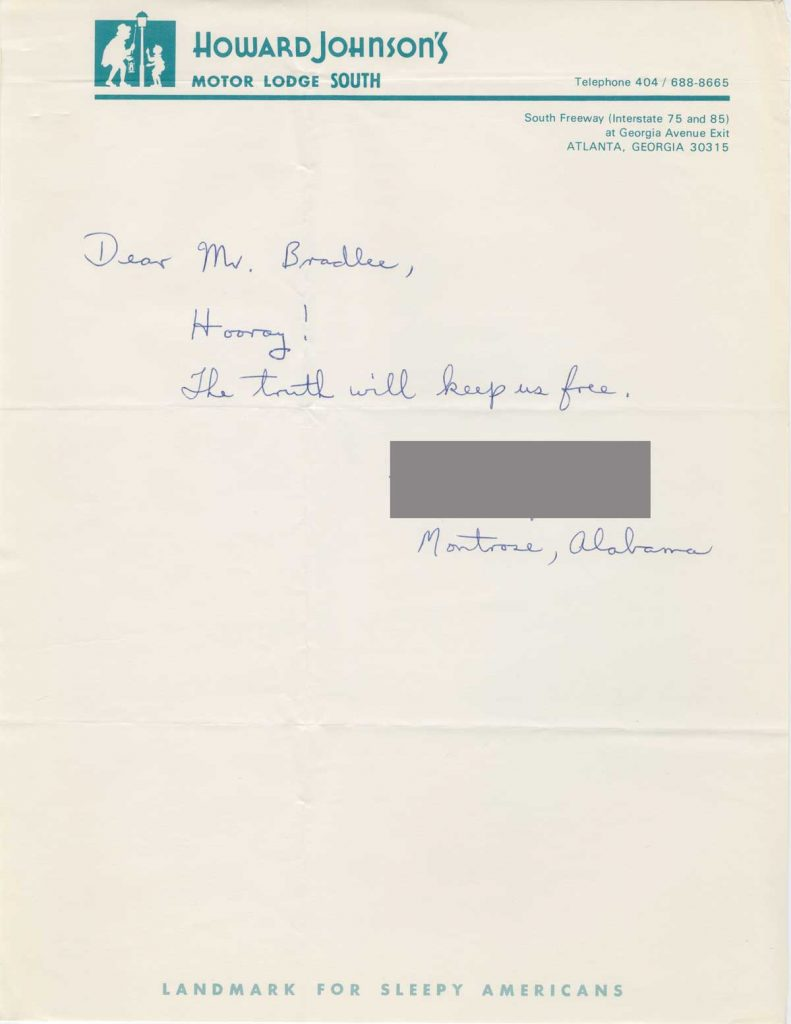 a letter author name redacted to ben bradlee 1971 concerning the pentagon papers from the benjamin c bradlee papers at the harry ransom center