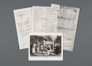 Research reproductions used in the writing of The Crucible, 1952. Arthur Miller Papers, Harry Ransom Center.