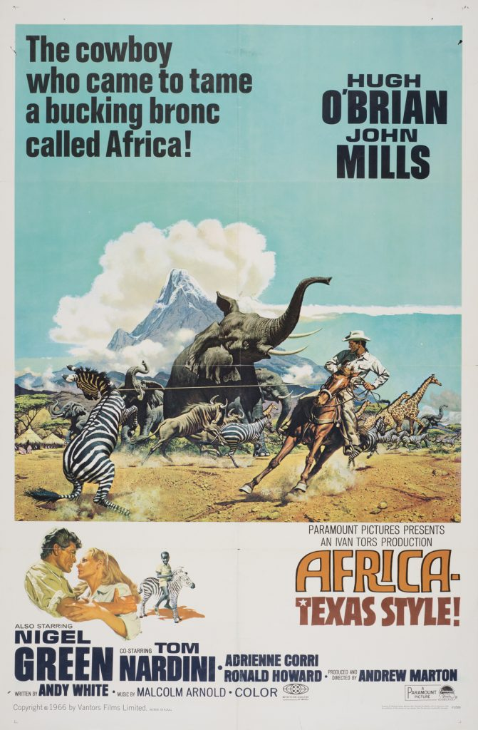 Africa Texas Style! , Date: 1967, size: 27x41 inches, from the Interstate Theater Collection
