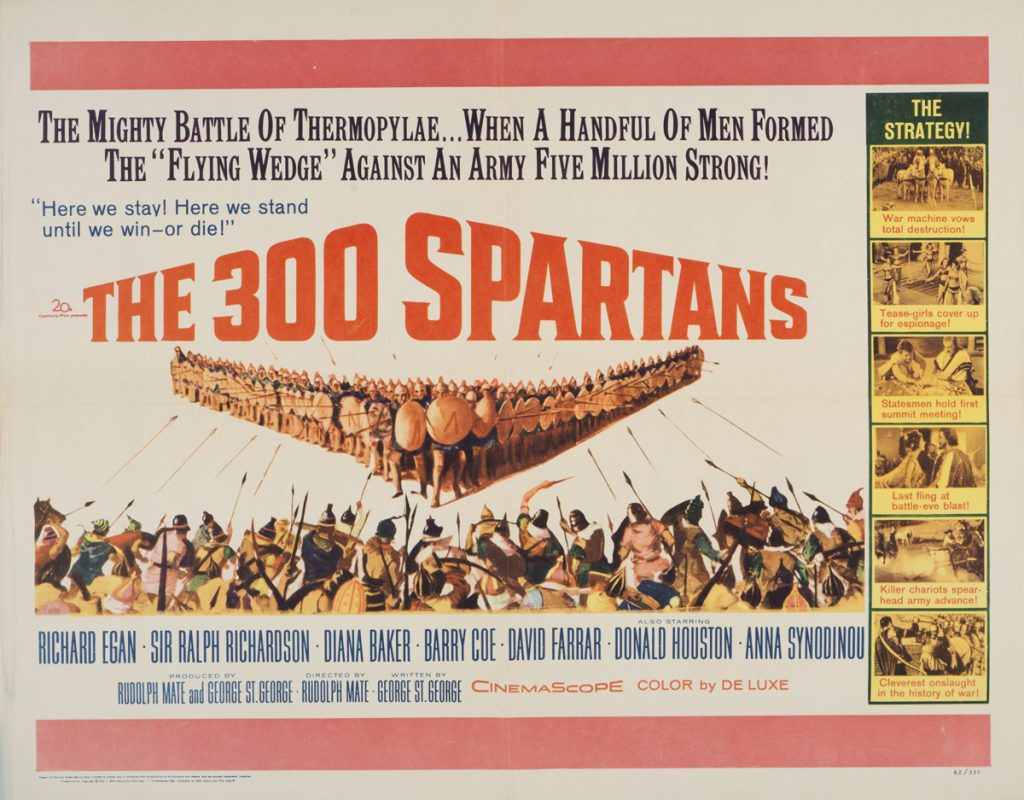 The 300 Spartans, Date: 1962, size: 27x41 inches, from the Interstate Theater Collection