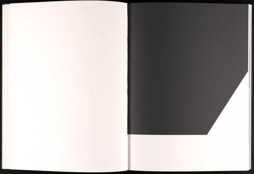 Page from The Limited Editions Club publication of Un Coup de Dés by Stéphane Mallarmé (New York: The Limited Editions Club, 1992). Ellsworth Kelly, 1992, lithograph.