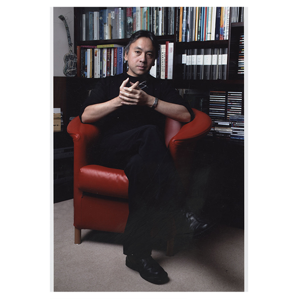 Photo of Kazuo Ishiguro in London, 2009, at home, by Isabelle Boccon-Gibod