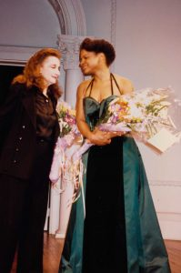 "Photographs from the opening of ""Master Class"" on Broadway featuring Zoe Caldwell and Audra McDonald, 1995. Gelatin silver prints"