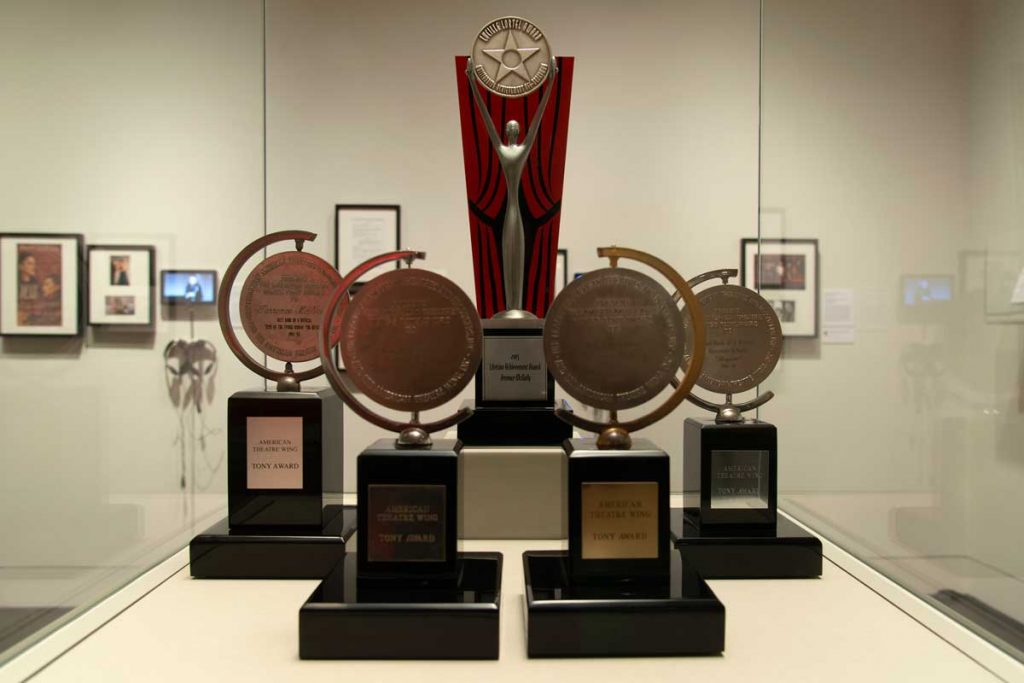 Terrence McNally's four Tony Awards and the Lucille Lortel Lifetime Achievement Award.