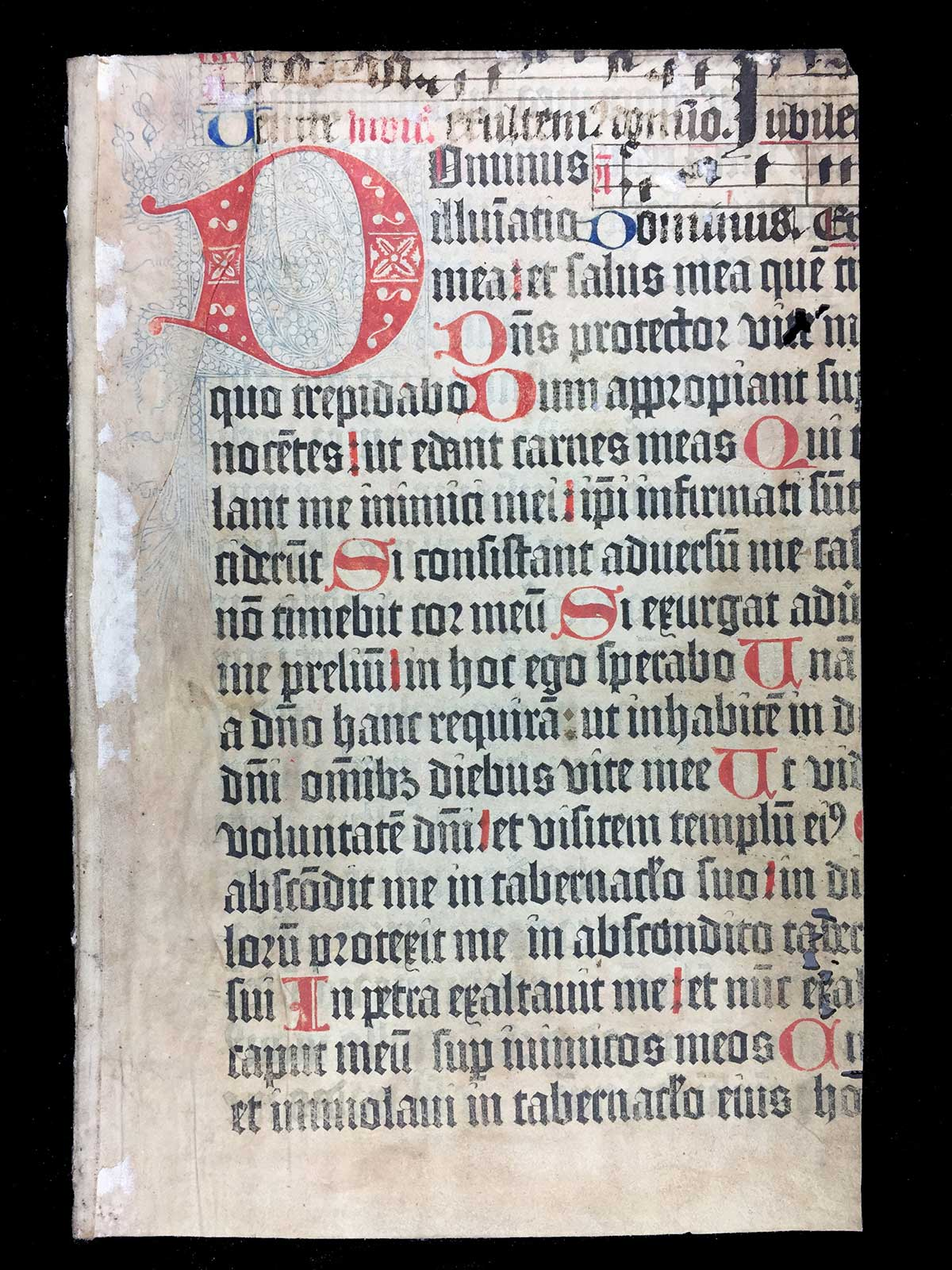 [Psalterium, commonly known as the Mainz Psalter] (Mainz: Johann Fust and Peter Schoeffer, 14 August 1457)], 37 recto.